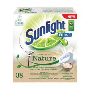 Sunlight All In 1 Powered By Nature tabletki do mycia naczyń w zmywarkach 38szt D0102
