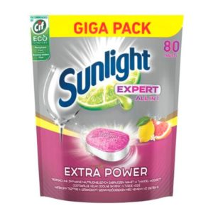 Sunlight Expert All In 1 Extra Power tabletki do mycia naczyń w zmywarkach Lemon 80szt D0102
