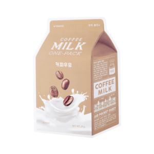 A Pieu Coffee Milk One Pack ujedrniajaca maseczka w plachcie Kawa 20g