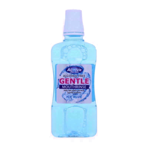 Active Oral Care Gentle Mouthrinse bezalkoholowy plyn do plukania jamy ustnej z fluorem Ice Blue 500ml
