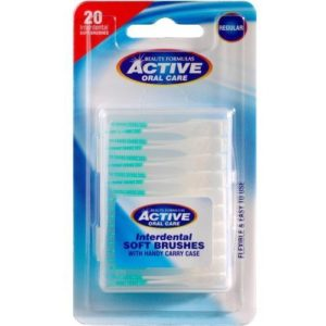 Active Oral Care Interdental Soft Brushes silikonowe czysciki miedzyzebowe Soft 20szt