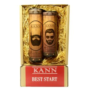 KANN Best Start Man zestaw Face And Bear Gel zel do mycia twarzy i brody 150ml  Day Cream krem na dzien SPF15 150ml