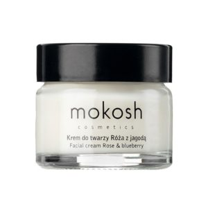 Mokosh Facial Cream Antiaging Rose  Bluberry ujedrniajacy krem do twarzy antiaging Roza z Jagoda 15ml