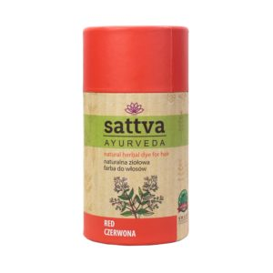 Sattva Natural Herbal Dye for Hair naturalna ziolowa farba do wlosow Pure Red 150g