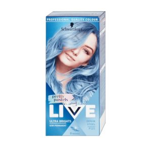 Schwarzkopf Live Ultra Brights Pretty Pastels farba do wlosow do 8 myc P121 Denim Steel