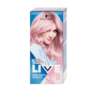 Schwarzkopf Live Ultra Brights Pretty Pastels farba do wlosow do 8 myc P123 Rose Gold