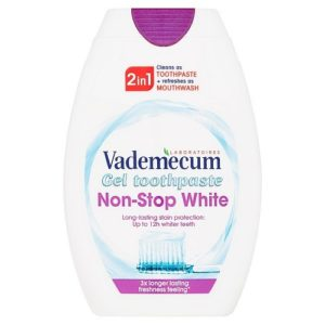 Vademecum 2in1 Toothpaste Mouthwash Non Stop White pasta do zebow i plyn do plukania jamy ustnej 75ml
