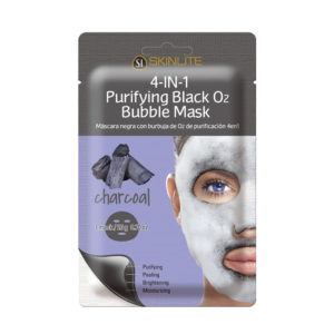 SKINLITE 4-in-1 Purifying Black O2 Bubble Mask